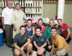 2014 Amigos present baby clothes to the Sisters at the Clinic