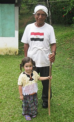 Manuel and his granddaughter