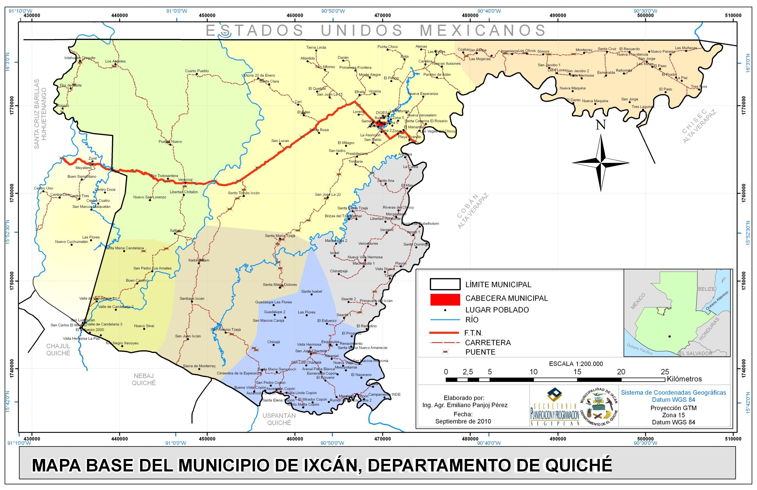 Map of the Ixcan region