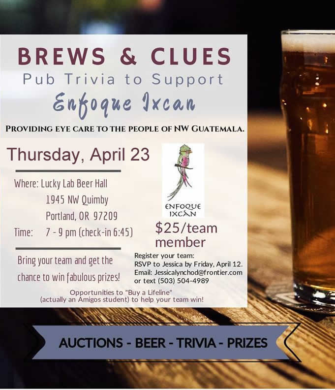 Enfoque Ixcán Pub Trivia & Auction!