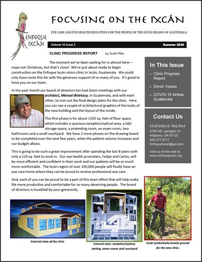 Our Summer 2020 Newsletter in .pdf format